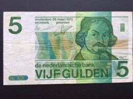 NEDERLAND P95 5 GULDEN 28.3.1973 VF - [2] 1815-… : Kingdom Of The Netherlands