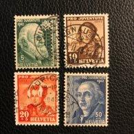 Schweiz Pro Juventute 1942 Zumstein-Nr. 101-104 Gestempelt - Ganzer Satz - Oblitérés