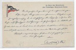 """1915 - REICH - CP FELDPOST """"AN BORD Des MOTORBBOTS Des FREIWILLIGEN MOTORBOOT-KORPS"""" BODENSEEFLOTILLE - LAC De CONSTANCE - Brieven"""