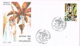 34701. Carta ELCHE (Alicante) 1986. Suiglo XIII. MISTERIO De ELCHE - 1931-Hoy: 2ª República - ... Juan Carlos I