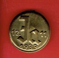 INSIGNE ALLEMAND JA 12.11.1933 OUI A ADOLF HITLER NSDAP AUX ELECTIONS FEDERALES Reichstagswahl Blechabzeic - 1939-45
