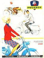 "PUB  MOBYLETTE  "" BB   PEUGEOT  ""   1963 (4) - Transports"