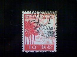 Japan, Scott #334, Used (o), 1942, Palms And Map, 10s, Crimson And Deep Rose - 1926-89 Emperor Hirohito (Showa Era)