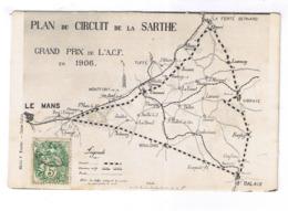 LE MANS  PLAN DU CIRCUIT DE LA SARTHE - Le Mans