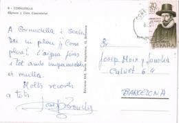 34704. Postal CORNUDELLA (Tarragona) 1967. Iglesia Y Casa Consitorial - 1931-Hoy: 2ª República - ... Juan Carlos I