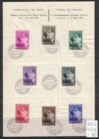 Belgique - Belgium - Yvert 447-454 - Scott#B189-B196 - Reine Astrid - Premier Jour - ....-1951