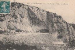 CPA 84 SAULT  TUNNEL CASTELERAS VALLEE  DE LA NESQUE  TRAVAUX ? - Francia