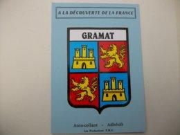Blason Adhésif GRAMAT (46) Lot - Gramat
