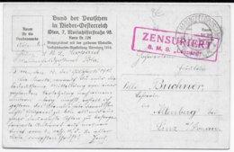 1918 - MARINE AUTRO-HONGROISE - CP KuK MARINE CENSUREE Du SMS LEOPARD à POLA => LINZ - 1850-1918 Empire