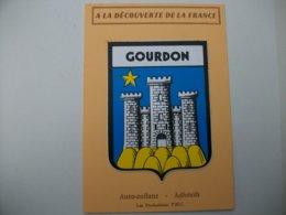 Blason Adhésif GOURDON (46) Lot - Gourdon
