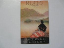 VIEUX PAPIERS - DEPLIANT TOURISTIQUE : BELLAGIO - Grande Albergo Villa Serbelloni - Folletos Turísticos
