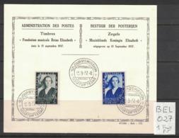 Belgique - Belgium - Yvert 456-457 - Scott#B197-B198 - Reine Mère - Premier Jour - ....-1951