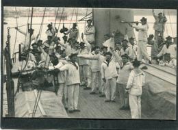 CPA - Marine Française - Exercice De Signaux à Bras à Bord D'un Cuirassé, Très Animé - Autres