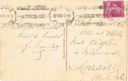 34707. Postal LOURDES (hautes Pyrenées) 1938. Flamme CHATEAU FORT - Francia