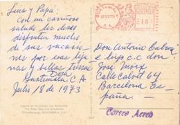 34708. Postal Aerea GUATEMALA  1973, Laguna De Los CISNES. LOS APOSENTOS - Guatemala