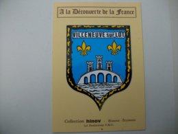 Blason Adhésif VILLENEUVE Sur LOT (47) Lot Et Garonne - Villeneuve Sur Lot