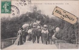 75 Paris - Cpa / Buttes-Chaumont - La Route Du Belvèdère. Circulé. - Parchi, Giardini
