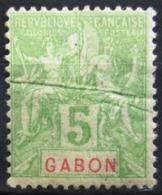 GABON                    N° 19                NEUF*     1 Pli - Unused Stamps