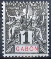 GABON                    N° 16                NEUF* - Unused Stamps