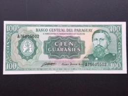 PARAGUAY P205 100 GUARANIS 1963 UNC - Paraguay