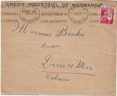 Env. Crédit Industriel De Normandie 1934 - Perf. CIN 181 Sur 283 - Francia
