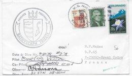 1978 - US NAVY - ENVELOPPE Du SOUS-MARIN BATHYSCAPHE TRIESTE - SUBMARINE => BREST - Postal History