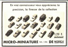 """PUB  """" MICRO MINIATURES """" NOREV """" 1963 ( 1  ) - Sonstige"""