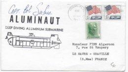 1966 - MARINE - ENVELOPPE Du SOUS-MARIN ALUMINIUM ALUMINAUT - SUBMARINE - Postal History