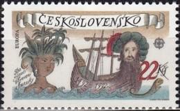 Czechoslovakia 1992, Europa (Exploration Of Americas, Columbus) (MNH, **) - Europa-CEPT