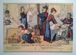 Carte Postale /thème Lessive Blanchisseuses Lavandieres  /Mme Des Tripailles / Hôtel Des Deux Boules / Le Monde Plaisant - Craft