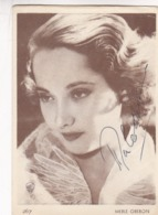 MARLE OBERON (1911 - 1979) - AUTOGRAFO ACTRIZ BRITANICA. AUTOGRAPHE BRITISH ACTRESS NE A RAJ BRITANNIQUE -LILHU - Autographes