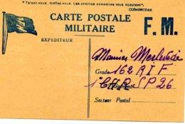 Carte Postale En Franchise Militaire Datée Du 26 Décembre 1939 - Marcophilie (Lettres)