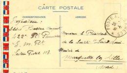 Carte Postale En Franchise Militaire Datée Du 26 Novembre 1939 - Marcofilie (Brieven)