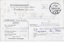 OFLAG XXI B 3 GEPRÜFT 1 Aoüt 1941 - Carte De Schubin Ou Thure (Szubin Ou Turek En Pologne) Cachet Trapèze Frappe Faible - WW II