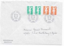 1994 - BUREAU De COLLEGE ! - ENVELOPPE De A.M JAVOUHEY-SENLIS (OISE) - Marcofilie (Brieven)
