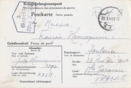 OFLAG XXI B 3 GEPRÜFT 29 Janvier 1941 - Carte De Schubin Ou Thure (Szubin Ou Turek En Pologne) Cachet Trapèze - Guerre De 1939-45