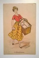 """Carte Postale /thème Lessive Blanchisseuses Lavandieres  / Ed """"aux Alliés"""" Ill F Chamouin - Illustrators & Photographers"""