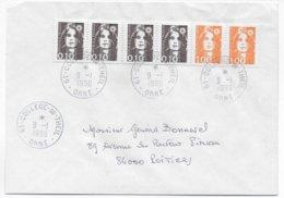 1996 - BUREAU De COLLEGE ! - ENVELOPPE De LE THEIL (ORNE) - Marcofilie (Brieven)