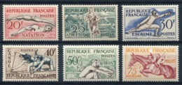 RC 14551 FRANCE N° 960 / 965 SERIE JEUX OLYMPIQUES D' HELSINKI HIPPISME COTE 50€ NEUF * - Unused Stamps