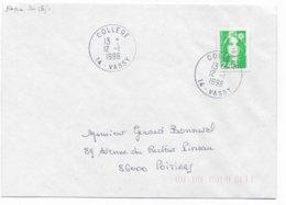1996 - BUREAU De COLLEGE ! - ENVELOPPE De VASSY (CALVADOS) - 1961-....