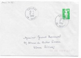 1996 - BUREAU De COLLEGE ! - ENVELOPPE De VASSY (CALVADOS) - Marcofilie (Brieven)