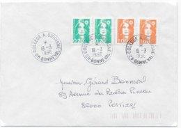 1996 - BUREAU De COLLEGE ! - ENVELOPPE De BONNEVAL (EURE ET LOIR) - Marcofilie (Brieven)