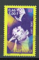 """FRANCE - BARBARA - N° Yvert 3396 Obli. RONDE DE """"BISCHWILLER 2002"""" - France"""