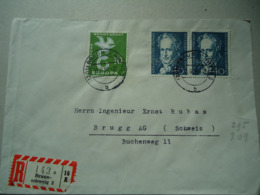 GERMANY  COVERS  REGISTERED EUROPA 59  AND PAIR - Europa-CEPT