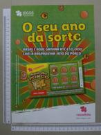 PORTUGAL - CARTAZ DE RASPADINHA - A4 -  ANO DO PORCO -   2 SCANS     - (Nº32390) - Loterijbiljetten