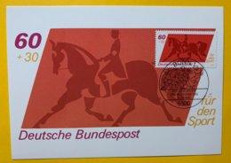 9190 -  Carte Maximum  Dressage Allemagne Bonn 08.05.19801 - Reitsport