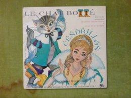"""LE CHAT BOTTE CENDRILLON - ALB 336 - Un Livre Disque """"Le Petit Ménestrel"""" - Kinderlieder"""