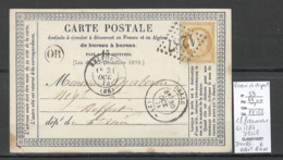 France - CP Précurseur  - Octobre 74 - GC 1287 - DELLE - Doubs Au Lieu De Haut Rhin - Storia Postale