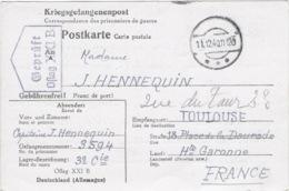 OFLAG XXI B GEPRÜFT 11 Décembre 1940 - Carte De Schubin Ou Thure (Szubin Ou Turek En Pologne) Cachet Trapèze - Marcofilie (Brieven)