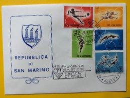 9191 -  FDC San Marino 21.02.1963 - Ete 1964: Tokyo